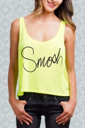 Yellow Highlighter Cropped Tank