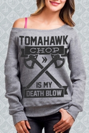 Death Blow Off-the-Shoulder Sweatshirt