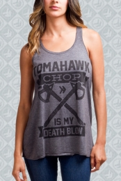 Charcoal Heather Death Blow Tank