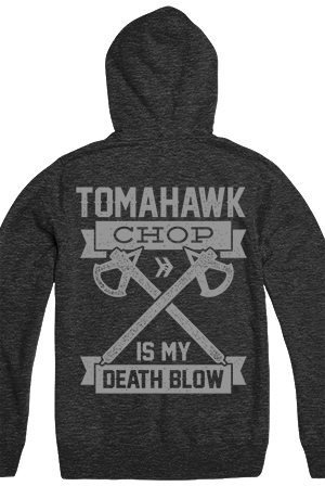 Death Blow Zip Up Hoodie (Heather Charcoal)