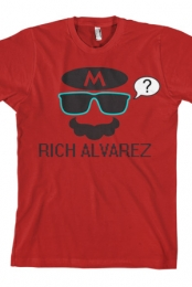 Mario Sunglasses/Mustache (Red)