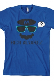 Mario Sunglasses/Mustache (Royal Blue)
