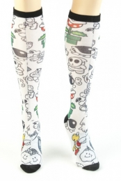 Nintendo All Over Print Juniors Knee Sock