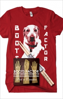 "Red T-Shirt, Sticks, and ""Part or Execution"" CD Bundle"