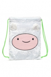 Adventure Time Finn Unisex White Fur Cinch Bag