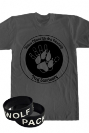 W.O.L.F Sanctuary Charity Shirt + Wolf Pack Wristband