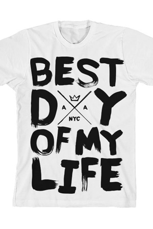 Best Day of My Life Tee (White) T-Shirt - American Authors T ...