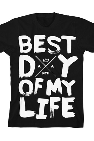 Best Day of My Life Tee (Black) T-Shirt - American Authors T ...