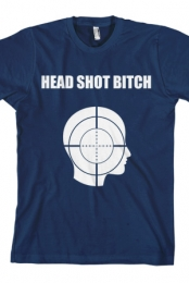 Head Shot Bitch (Navy)