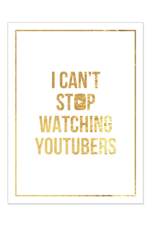 Can't Stop Poster (Gold Foil on White 18x24)