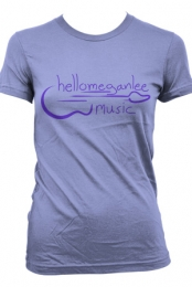 Logo Tee (Girl's Light Purple) - hellomeganlee