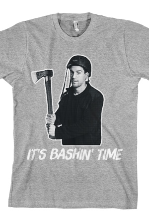 It's Bashin' Time Tee (Heather Grey)