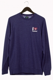 I Love Boobies! Men's Crew - Navy