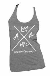 Hand Drawn Logo Ladies Racerback (Heather Grey)