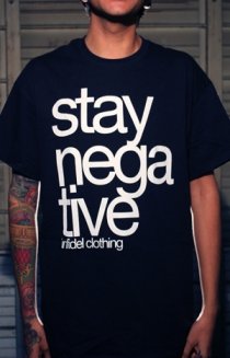 Stay Negative Tee (Black)