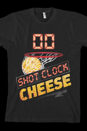 shot clock cheese tee t shirt chris smoove t shirts