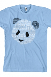 Panda Minion Tee (Light Blue)