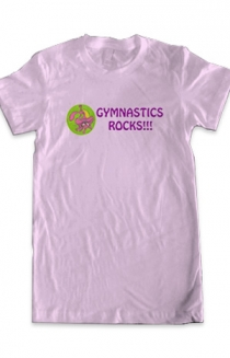 Gymnastics Rocks Tee (Light Pink)