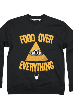 Food Over Everything Limited Edition Crewneck (Black)