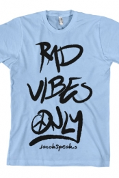 Rad Vibes Only Tee (Light Blue)