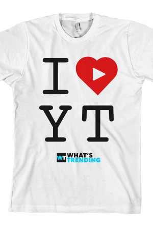 i heart youtube t shirt what 39 s trending t shirts online store on district lines. Black Bedroom Furniture Sets. Home Design Ideas