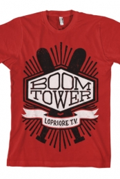 Boom Tower Tee (Red) - LoPriore