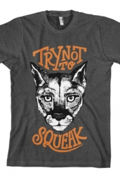 Try Not To Squeak Tee (Heather Charcoal)