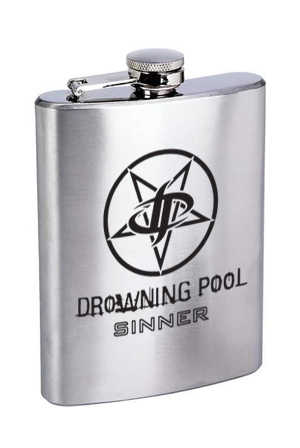Drowning Pool Logo Flask