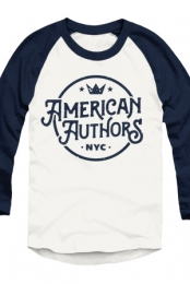 Crown Baseball Tee (White/Navy)