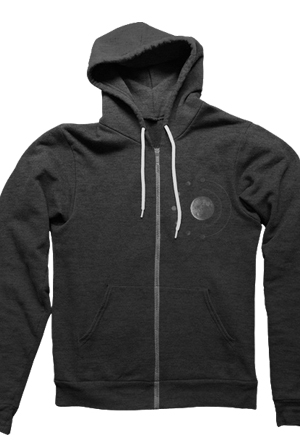 Dagger Zipup Hoodie (Heather Charcoal)