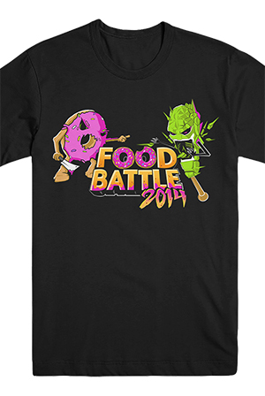 Food Battle 2014 Tee Black T Shirts Smosh T Shirts Official