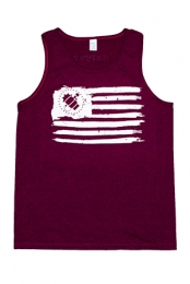 Flag Tank (Heather Cranberry)
