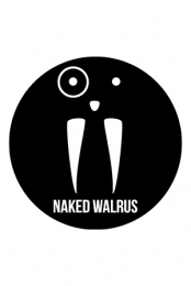 Naked Walrus 3 Circle Sticker