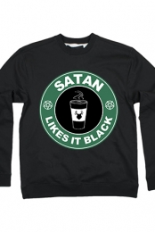 Satan Likes It Black Crewneck