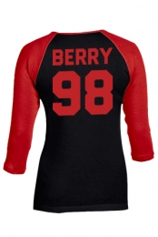 Berry Raglan (Black w/Red)