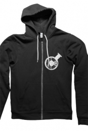 Logo Zip-Up Hoodie (Black)