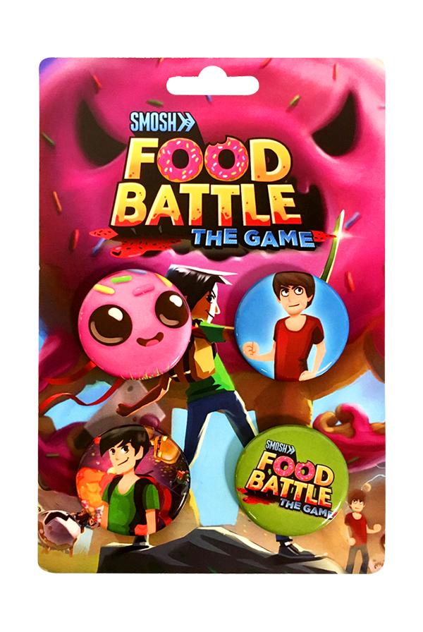 Food Battle The Game Button Pack Accessory Smosh Accessories