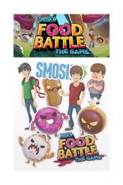 Food Battle The Game Sticker Pack