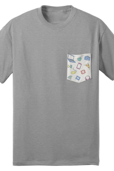 Iconic Pocket Tee (Gray)