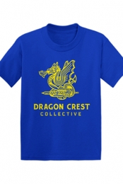 Dragon Crest Youth Tee (Royal Blue)