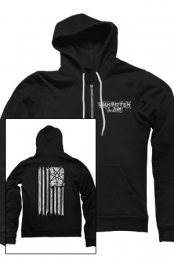 Flag Zip Up Hoodie (Black)