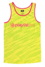 Neon Unisex Tank (Yellow/Pink Trim)