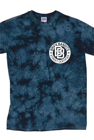 Wheel Tie Dye Tee (Navy Crystal)
