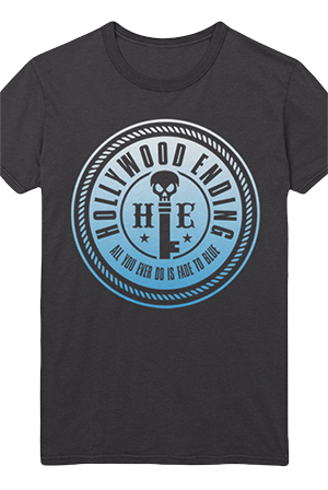 Fade To Blue Tee (Charcoal)