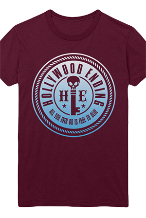 Fade To Blue Tee (Burgundy)