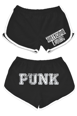 Punk Booty Shorts (Black / White Trim)