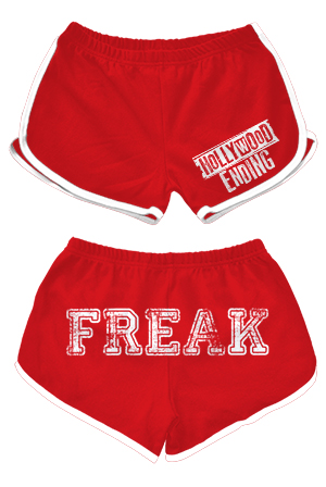 Freak Booty Shorts (Red / White Trim)