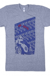 Racer Tee (Heather Blue)