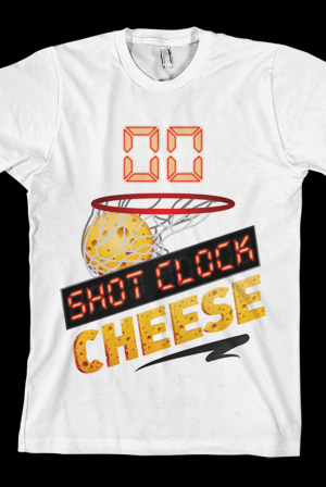 Shot Clock Cheese Tee (White)