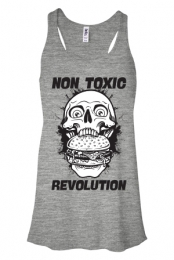 Non Toxic Revolution Racerback Tank (Heather Grey)